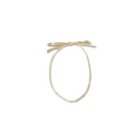 Pre-Tied Gold Elastic Bow