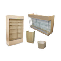Display Cases & Counters by Color: Maple