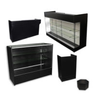 Display Cases & Counters by Color: Black