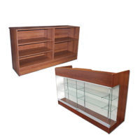 Display Cases & Counters by Color: CHERRY