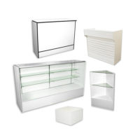 Display Cases & Counters by Color: WHITE