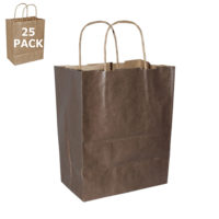 Chocolate Cub Paper Shopping Bag-25 Pack