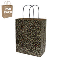 Cub Size Leopard Print Paper Shopping Bags