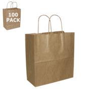 Kraft Paper Mister Size Shopping Bag-100 Pack