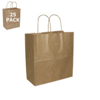 Kraft Paper Mister Size Shopping Bag-25 Pack