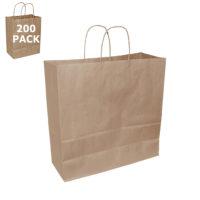 Kraft Jumbo Size Paper Shopping Bag-Case 200