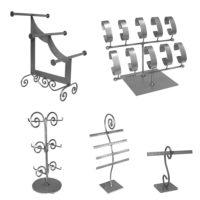 Raw Steel Jewelry Displays