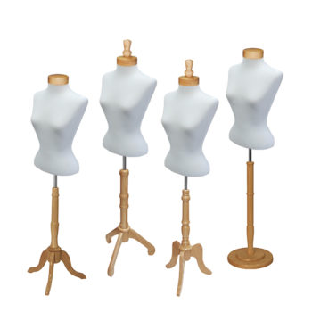 Blouse Form Set with Natural Wood