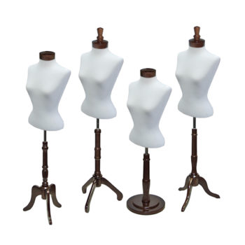 Blouse Form Set with Walnut Wood