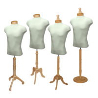 Natural Wood Male Shirt Form Set