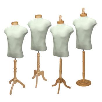 Natural Wood Male Shirt Form Set