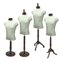 Male Shirt Form Set Walnut Wood