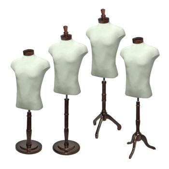 Male Shirt Form Set Walnut Wood
