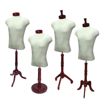Male Shirt Form Set with Mahogany Wood