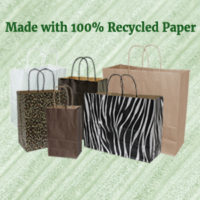 100% Recycled Paper Bags